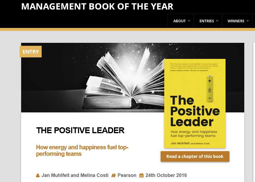 Nomination to Management book of the year in UK